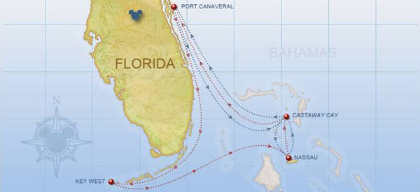 Disney Cruise Line Itineraries For 2018 Abd 2019 Disney