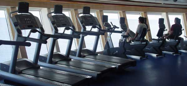 Fitness Center onboard the Disney Cruise