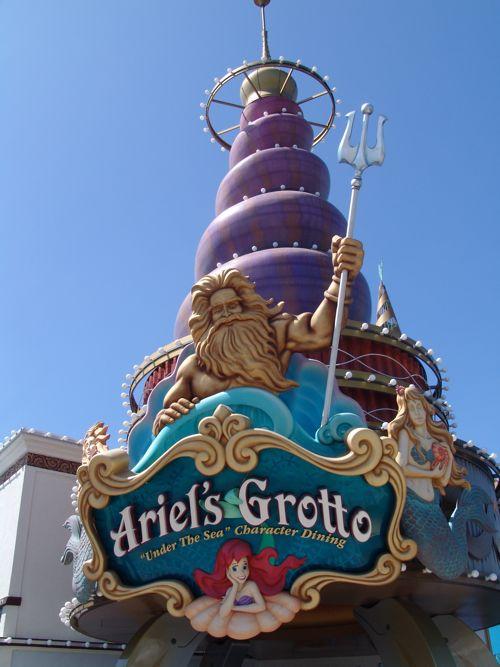 Ariel S Grotto Menu California Adventure