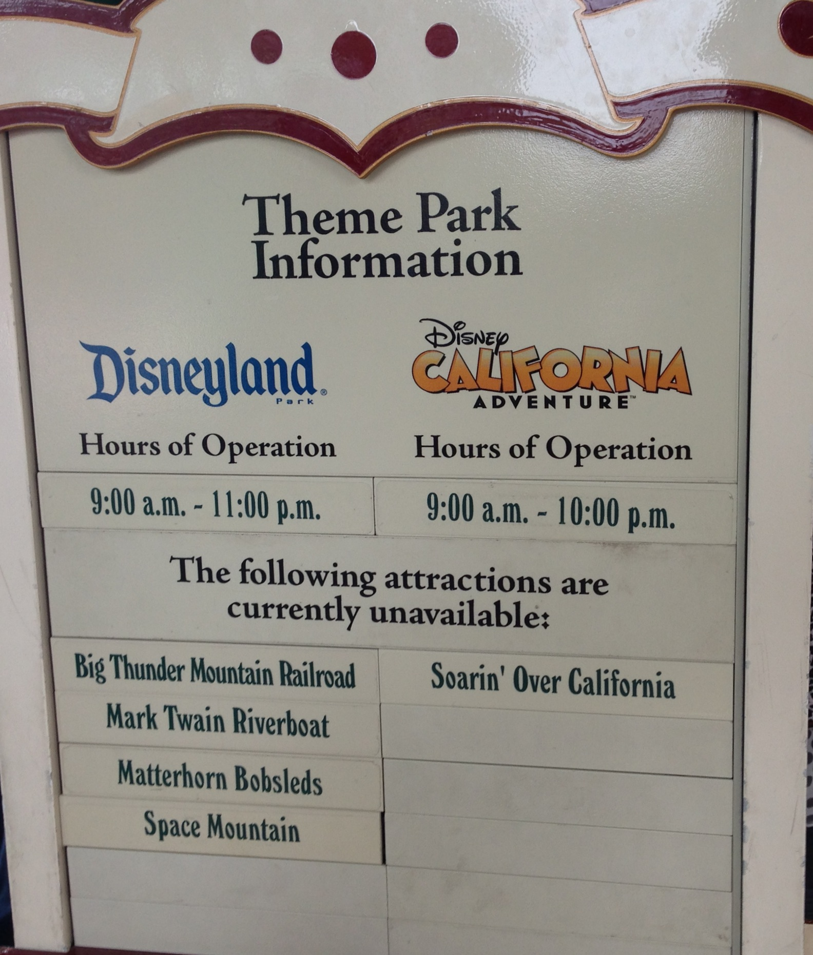 Updated Major Attractions Suddenly Closed At Disneyland - What city is disneyland in