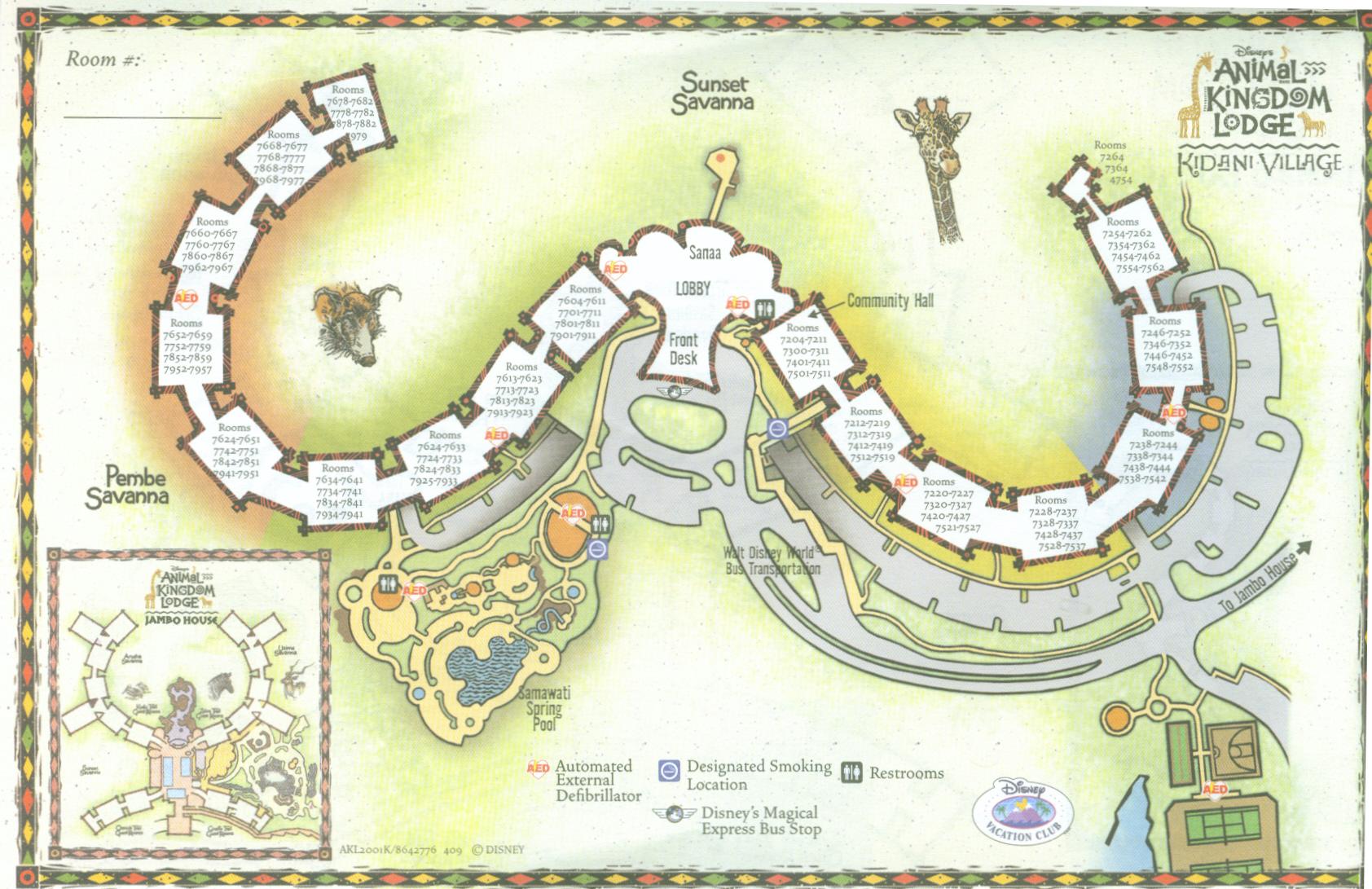 Hotel Room Layout Animal Kingdom Lodge Villas At Walt Disney World Resort