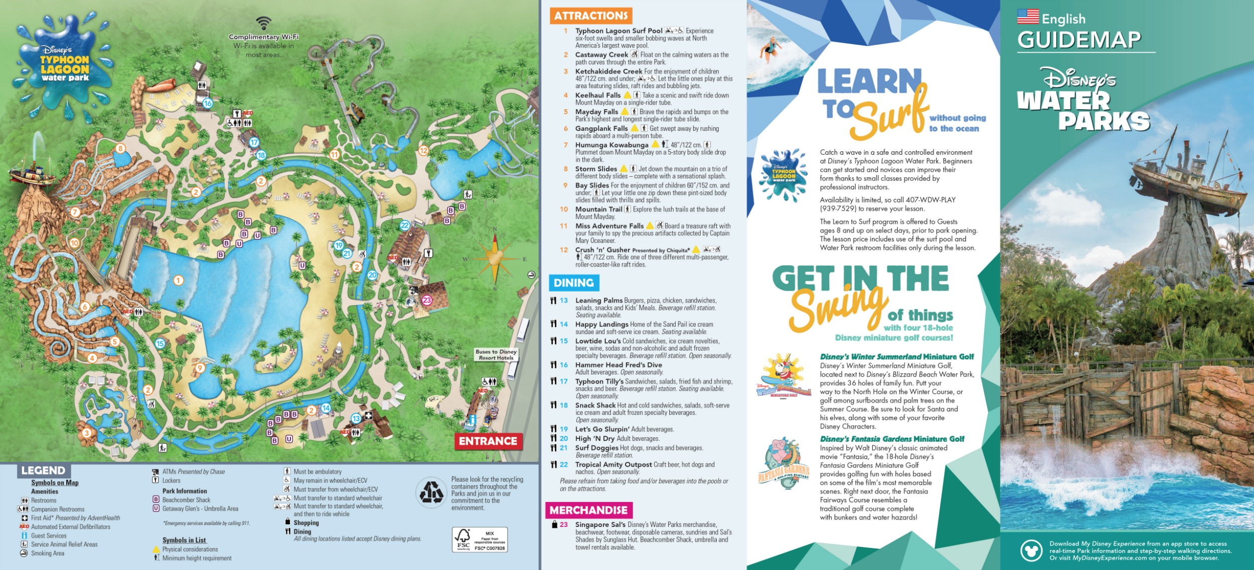 Disney's Typhoon Lagoon Water Park map