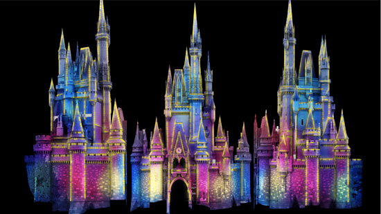 Celebrate the Magic! Castle Projection show