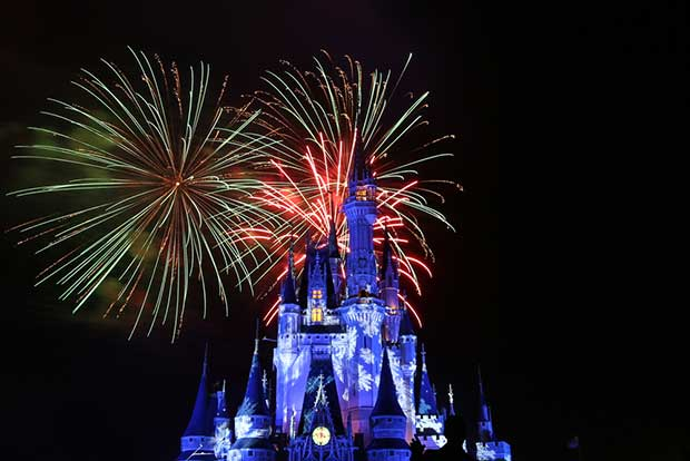cinderella castle fireworks photo